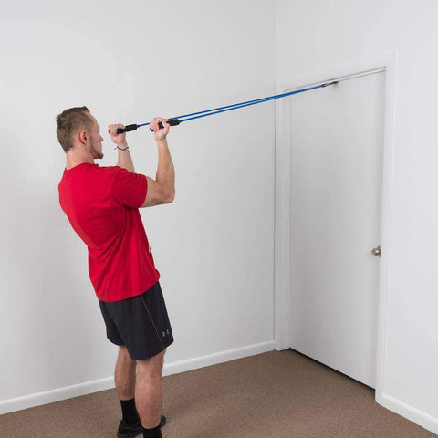 Image of 5 PACK Resistance Tubes With Door Frame Attachment - FitnessGearUSA.Com