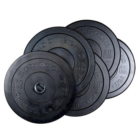 260LB Bumper Set Black, PAIRS 10,15,25,35,45,  Full Commercial - Fitness Gear