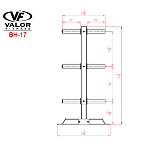 Valor Fitness BH-17 Bumper Plate Tree - Fitness Gear
