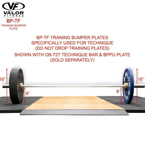 Valor Fitness BP-TF Training Bumper Plates (2) - Fitness Gear