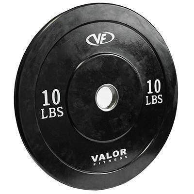Valor Fitness XBumper Plate  BPX-10 (Solid Black ) (4) - Fitness Gear