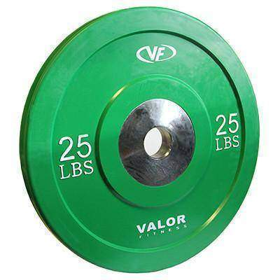 Valor Fitness XBumper Plate BPX-25  (Solid Green) (2) - Fitness Gear