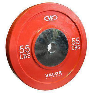 Valor Fitness XBumper Plate BPX-55 (Solid Red) (1) - Fitness Gear