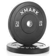 XMark 25 lb. Bumper Plates with Stainless Steel Inserts (Pair) XM-3385-25-P - Fitness Gear