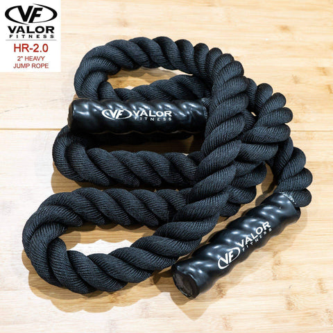 "Valor Fitness HR-2.0 2"" Heavy Jump Rope - Fitness Gear"
