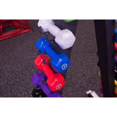 Image of 12 Pairs Neoprene Dumbbells 1-15lbs, with GDR24 Rack - Fitness Gear