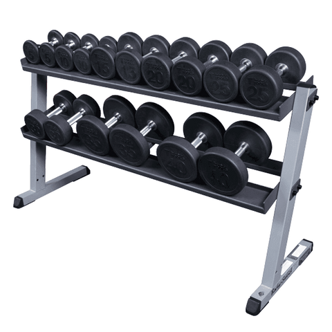Image of 2 Tier Pro Horizontal Dumbell Rack - Fitness Gear