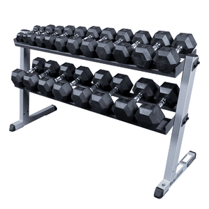 2 Tier Pro Horizontal Dumbell Rack - Fitness Gear