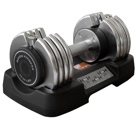 Image of Bayou Fitness 50 lb. Adjustable Dumbbell BF-0150 - Fitness Gear