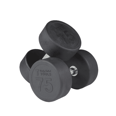 Image of Rubber Round Dumbell 55-75lb pairs - FitnessGearUSA.Com
