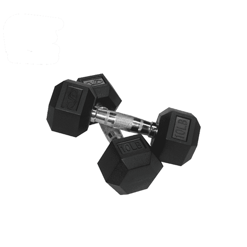 Valor Fitness 10 lb Dumbbell (2) RH-10 - Fitness Gear