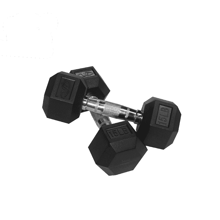 Valor Fitness 15 lb Dumbbell (2) RH-15 - Fitness Gear