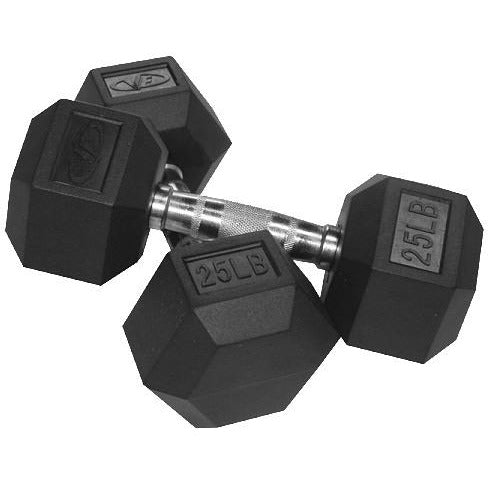 Valor Fitness 25 lb Dumbbell (2) RH-25 - Fitness Gear