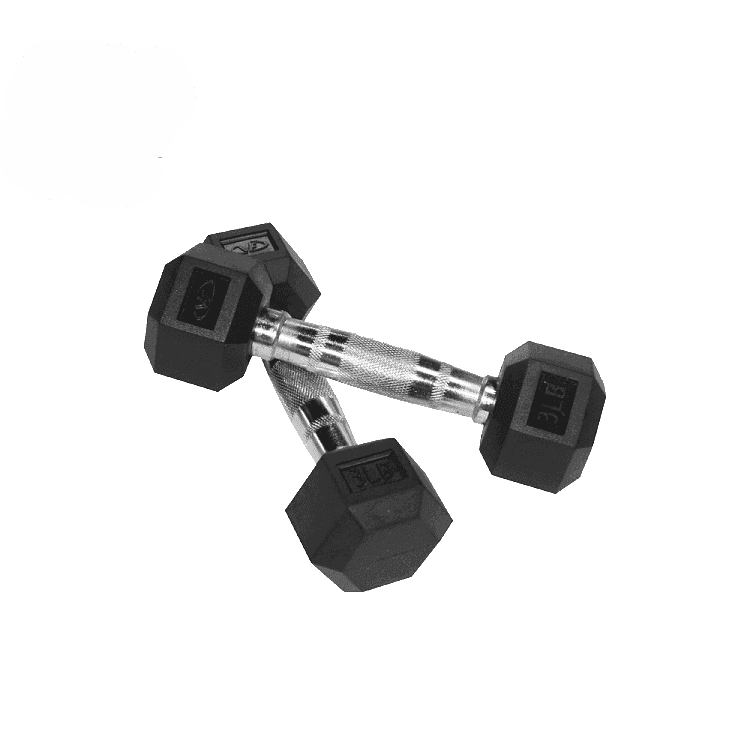 Valor Fitness 3 lb Dumbbell (2) RH-3 - Fitness Gear