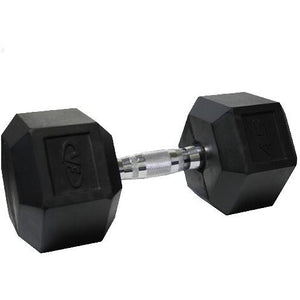 Valor Fitness 45lb Rubber Hex Dumbbell (1) RH-45 - Fitness Gear