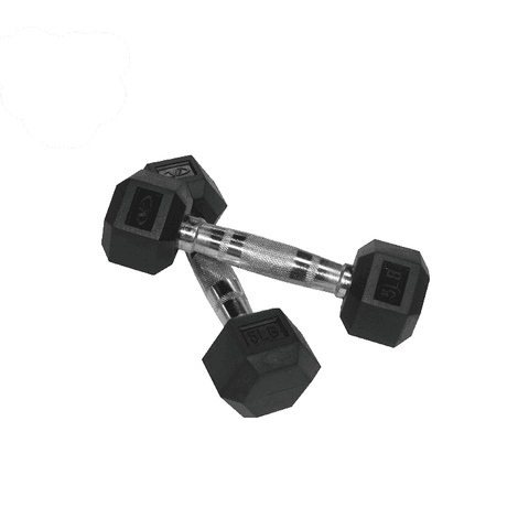 Valor Fitness 5 lb Dumbbell (2) RH-5 - Fitness Gear