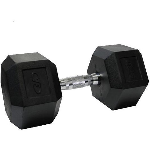 Valor Fitness 50lb Rubber Hex Dumbbell (1) RH-50 - Fitness Gear