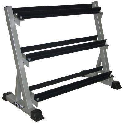 Image of Valor Fitness BG-12  3 Tier (40) Dumbbell Rack - Fitness Gear