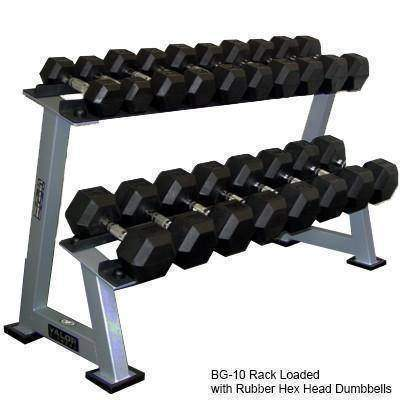 Valor Fitness BG-10  6 Pair Dumbbell Rack - Fitness Gear
