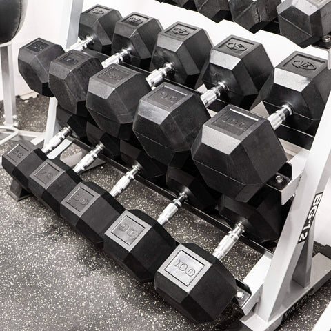 Valor RH-60 60lb Rubber Hex Dumbbell (1) - Fitness Gear