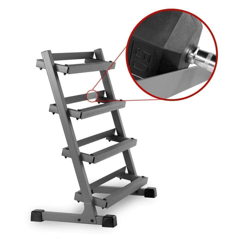 Image of Xmark 3 FT. FOUR TIER DUMBBELL RACK XM-3109.1 - Fitness Gear
