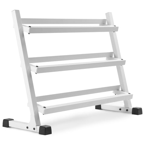 XMark 4 ft. Three Tier Dumbbell Rack XM-3107.1-WHITE - Fitness Gear