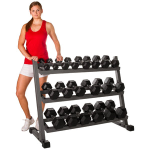 XMark 4 ft. Three Tier Dumbbell Rack XM-4439 - Fitness Gear