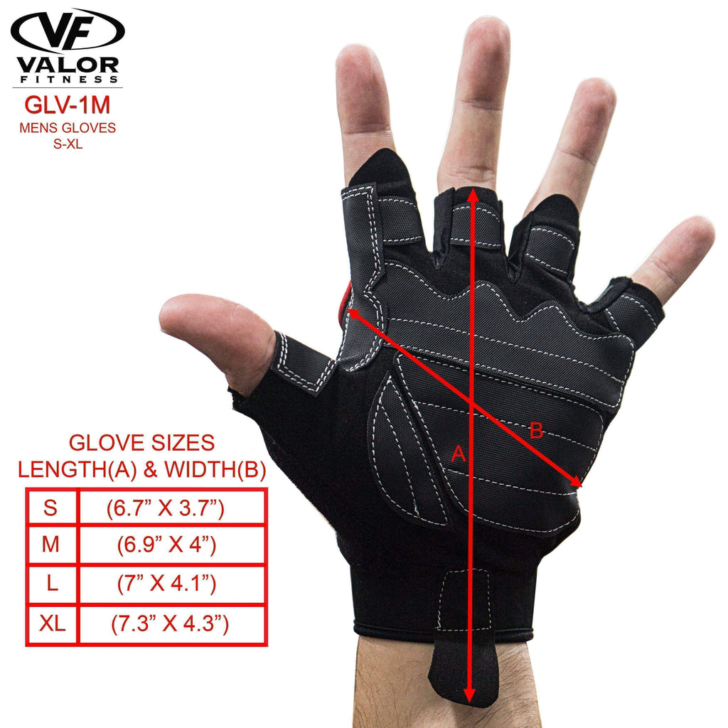 Valor Fitness GLV-1M Mens Weighlifting Gloves - Fitness Gear