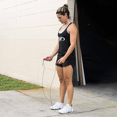 Image of Valor Fitness SR-2A 2.5mm Cable Adjustable Speed Rope - Fitness Gear