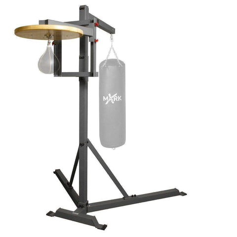 XMark Commercial Heavy Bag Stand with Speed Bag Platform XM-2848 - Fitness Gear