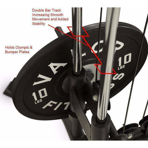 Image of Valor Fitness BD-61 Cable Crossover Station - Fitness Gear