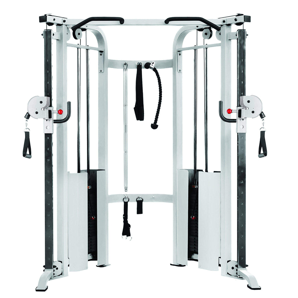 Home Gym - XMark Functional Trainer Cable Machine With Dual 200 Lb Weight Stacks XM-7626-White