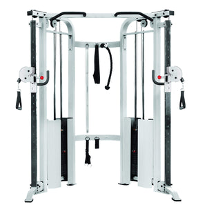 XMark Functional Trainer Cable Machine with Dual 200 lb Weight Stacks XM-7626-White - FitnessGearUSA.Com