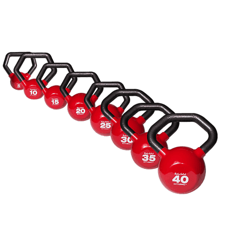 Image of 5-40 lb. Body-Solid Vinyl Dipped Kettleball Set - Fitness Gear