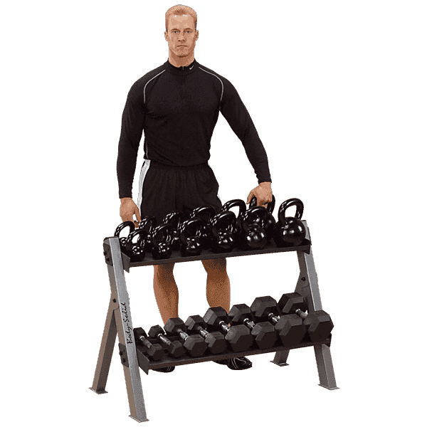 Dual Dumbell and Kettlebell Rack - Fitness Gear