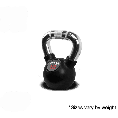 Valor Fitness Chrome Kettle Bell 10lb CKB-10 - Fitness Gear