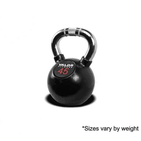 Valor Fitness Chrome Kettle Bell 45lb CKB-45 - Fitness Gear
