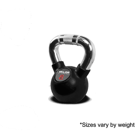 Image of Valor Fitness Chrome Kettle Bell 8lb CKB-8 - FitnessGearUSA.Com