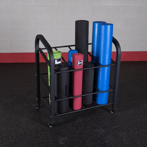 Image of Rolling Foam Roller, Yoga Mat Storage Rack - Fitness Gear