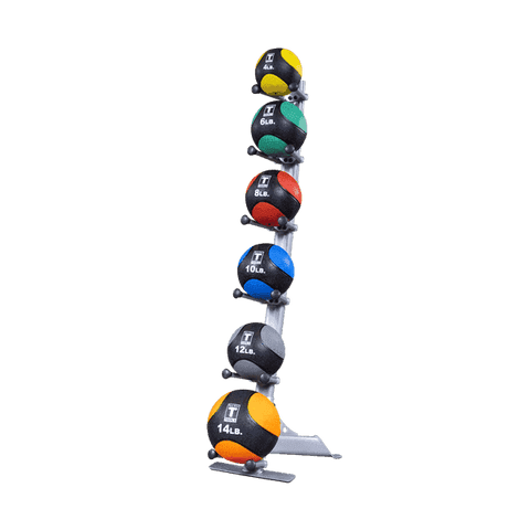 Image of MEDICINE BALL RACK 6 ball holder - Fitness Gear