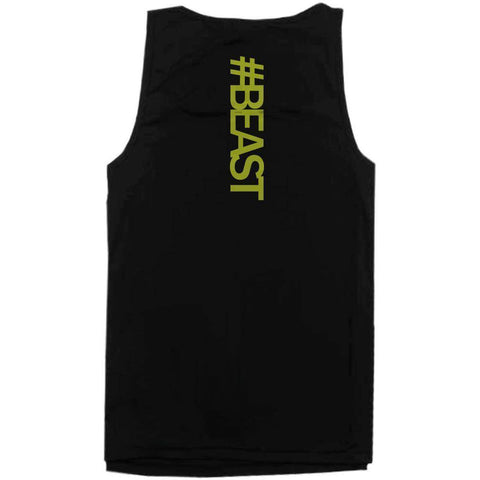 #Beast Neon Back Print Men's Work Out Tank Top Gym Sleeveless Beast Tanks - Fitness Gear