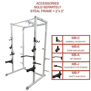 Valor Fitness BD-7 Power Rack with Lat Pull Attachment - Fitness Gear