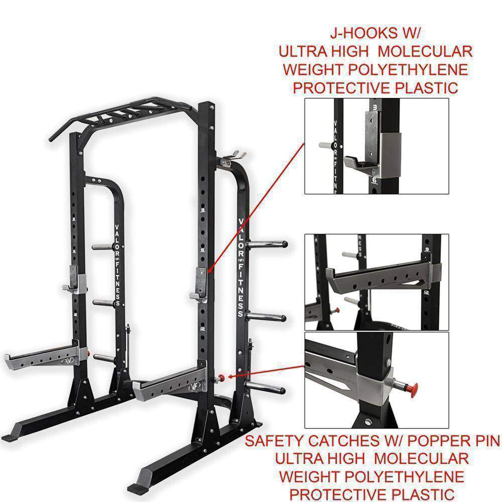 Valor ValorPRO BD-58 Half Rack with Plate Storage