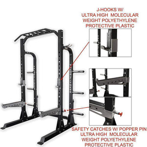 Valor ValorPRO BD-58 Half Rack with Plate Storage - Fitness Gear