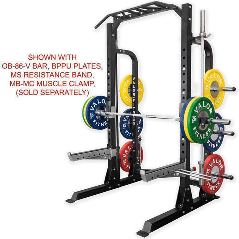 Image of Valor ValorPRO BD-58 Half Rack with Plate Storage - Fitness Gear