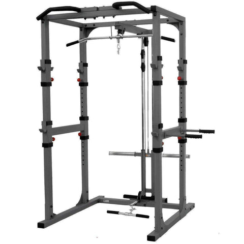 Image of XMark Power Cage with Lat Pulldown and Low Row Attachment XM-7620-21 - Fitness Gear