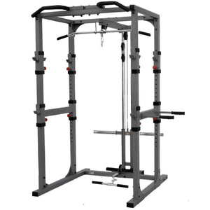 XMark Power Cage with Lat Pulldown and Low Row Attachment XM-7620-21 - Fitness Gear