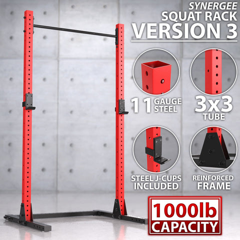 Image of Synergee Squat Rack V3 - FitnessGearUSA.Com