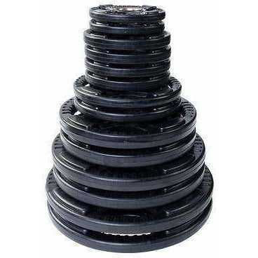 Image of 255 lb. Rubber Grip Olympic Set (plates only) - Fitness Gear