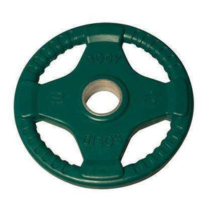 455 lb. Colored Rubber Grip Olympic Plate Set - FitnessGearUSA.Com